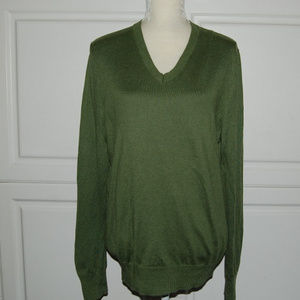 Banana Republic Olive Cashmere Silk Sweater